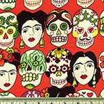 Gotas de Amor Day of the Dead Cantaloupe Fabric