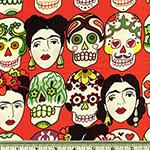 Gotas de Amor Day of the Dead Cantaloupe Fabric