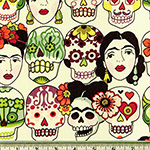 Gotas de Amor Day of the Dead Tea Fabric