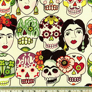 Gotas de Amor Day of the Dead Tea Fabric