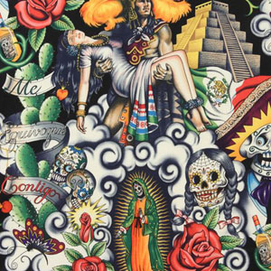 Contigo Aztec Fabric Black Fabric