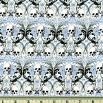Knifty Knit Regent Skull Blue Fabric