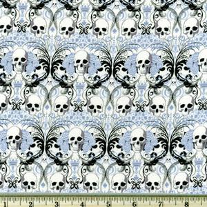 Knifty Knit Regent Skull Blue Fabric