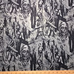 Zombie! Gray and Charcoal Fabric