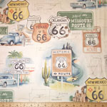 On Route 66 Fabric Ivory