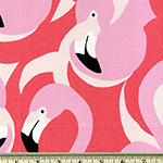 Pink Flamingos Large Print Fabric