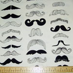 Where's My 'Stash Mustache Fabric