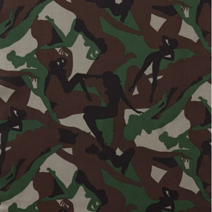 Pin Up Camouflage Girls Fabric