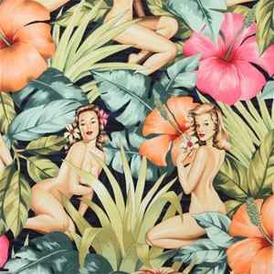 Pin Up Mirage Navy Blue Fabric