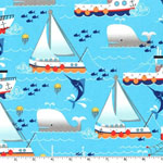 Swim Free Ship Aqua Fabric