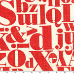 Letterpress Red Fabric