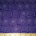 Stitch Square Sashiko Navy Blue Fabric