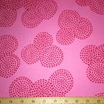 Stitch Circle Sashiko Candy Pink Fabric