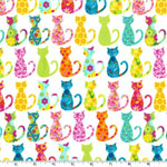 Calico Cat Multi Colored Fabric