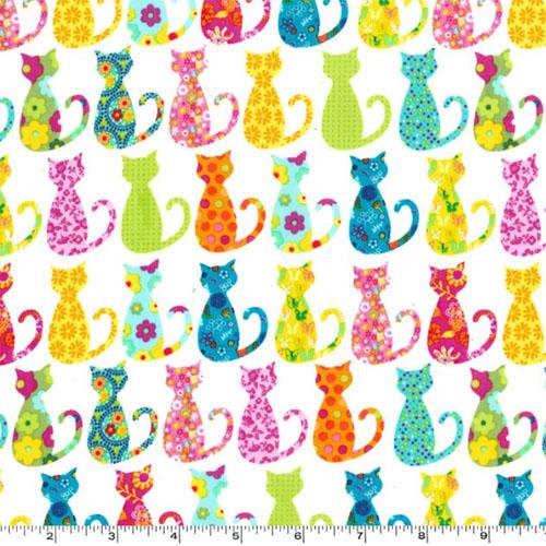 Calico Cat Multi Colored Fabric
