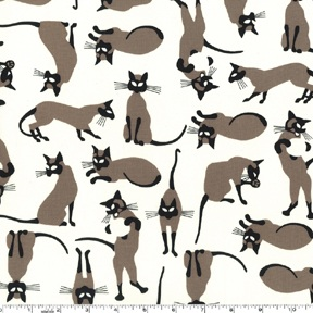 We are Siamese Cats Fabric