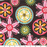 Carnival Bloom Brown Fabric