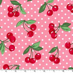 Cherry Dot Bloom Pink Fabric