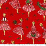 Holiday Hostess in Red Christmas Fabric