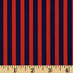 Clown Stripe Twilight Navy and Red Fabric