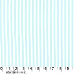 Clown Stripe Aqua Blue White Fabric