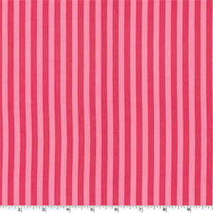 Clown Stripe Candy Pink Fabric