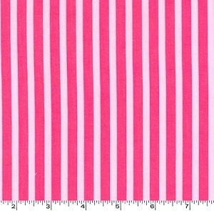 Clown Stripe Pink Girl Fabric