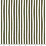 Clown Stripe Olive Green White Fabric