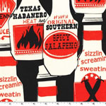 Retro Smokin' Hot Sauce Fabric