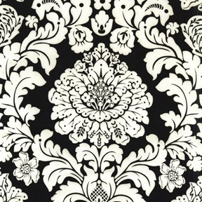 Delovely Damask Black Fabric