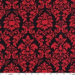 Dandy Damask Noir Fabric