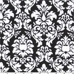 Dandy Damask Black Fabric