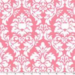 Dandy Damask Petal Pink White Fabric