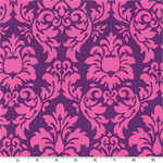 Dandy Damask Purple Pink Fabric