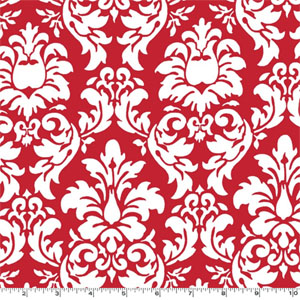 Dandy Damask Rouge Fabric
