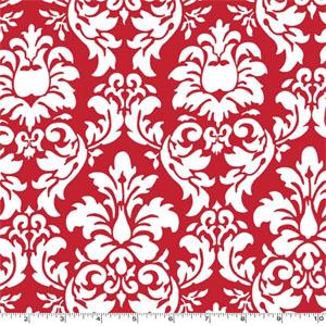 Dandy Damask Rouge Fabric