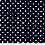 Dumb Dot Navy Blue Fabric