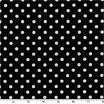 Dumb Dot Black Fabric