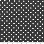 Dumb Dot Charcoal Gray Fabric
