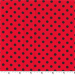 Dumb Dot Cherry Red Fabric