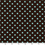 Dumb Dot Chocolate Brown Fabric