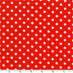 Dumb Dot Clementine Orange White Fabric