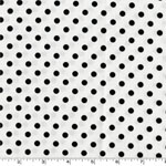 Dumb Dot Ebony Black and White Fabric