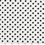 Dumb Dot Ebony Black and White Fabric