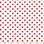 Dumb Dot Peppermint Red Fabric
