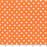 Dumb Dot Tangerine Orange White Fabric