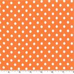 Dumb Dot Tangerine Orange White Fabric