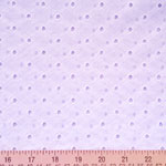 Lattice Eyelet White Fabric
