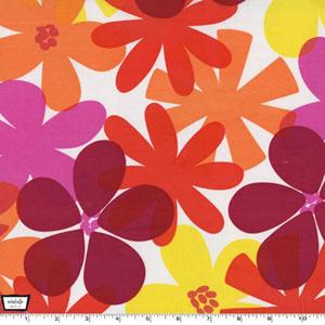 Contemporary Florals Tangerine Fabric