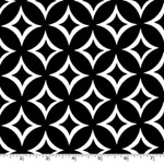 Tweedle Dee White Geometric Black Fabric